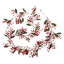 Buy John Lewis Folklore Red Berry Slim Garland, L180cm, Red Online at johnlewis.com