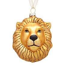 Buy John Lewis Tales of the Maharaja Lion Head Bauble Online at johnlewis.com