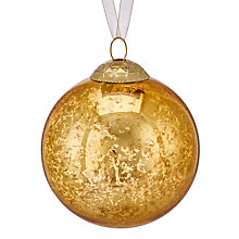 Buy John Lewis Into the Woods Mercurised Bauble, Gold Online at johnlewis.com
