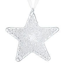 Buy John Lewis Winter Palace Glass Star Tree Decorations, Box of 3 Online at johnlewis.com