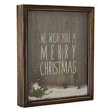 Buy John Lewis Merry Christmas Sign Online at johnlewis.com