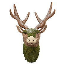 Buy John Lewis Into the Woods Mossy Deer Head Hanging Decoration Online at johnlewis.com