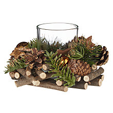 Buy John Lewis Highland Myths Pine Cone and Star Candle Holder, Copper Online at johnlewis.com