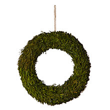 Buy John Lewis Into the Woods Frosted Moss Wreath, Dia.43.5cm, Green Online at johnlewis.com