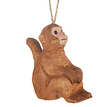 Buy John Lewis Tales of the Maharaja Wooden Monkey Tree Decoration Online at johnlewis.com