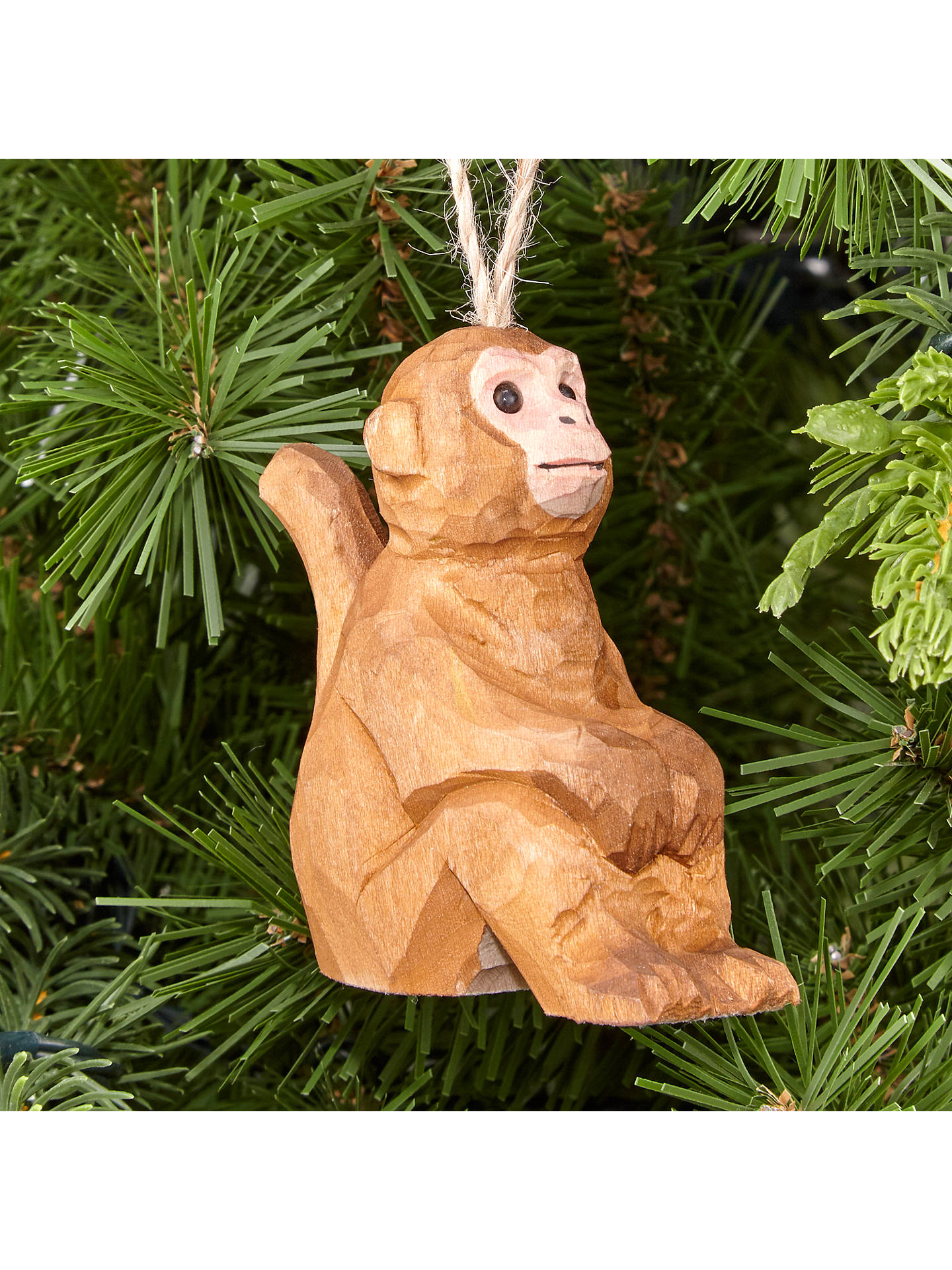 BuyJohn Lewis Tales of the Maharaja Wooden Monkey Tree Decoration Online at johnlewis.com