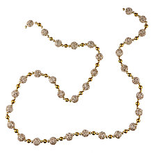 Buy John Lewis Tales of the Maharaja Glitter Ball Bead Garland, L180cm, Gold Online at johnlewis.com