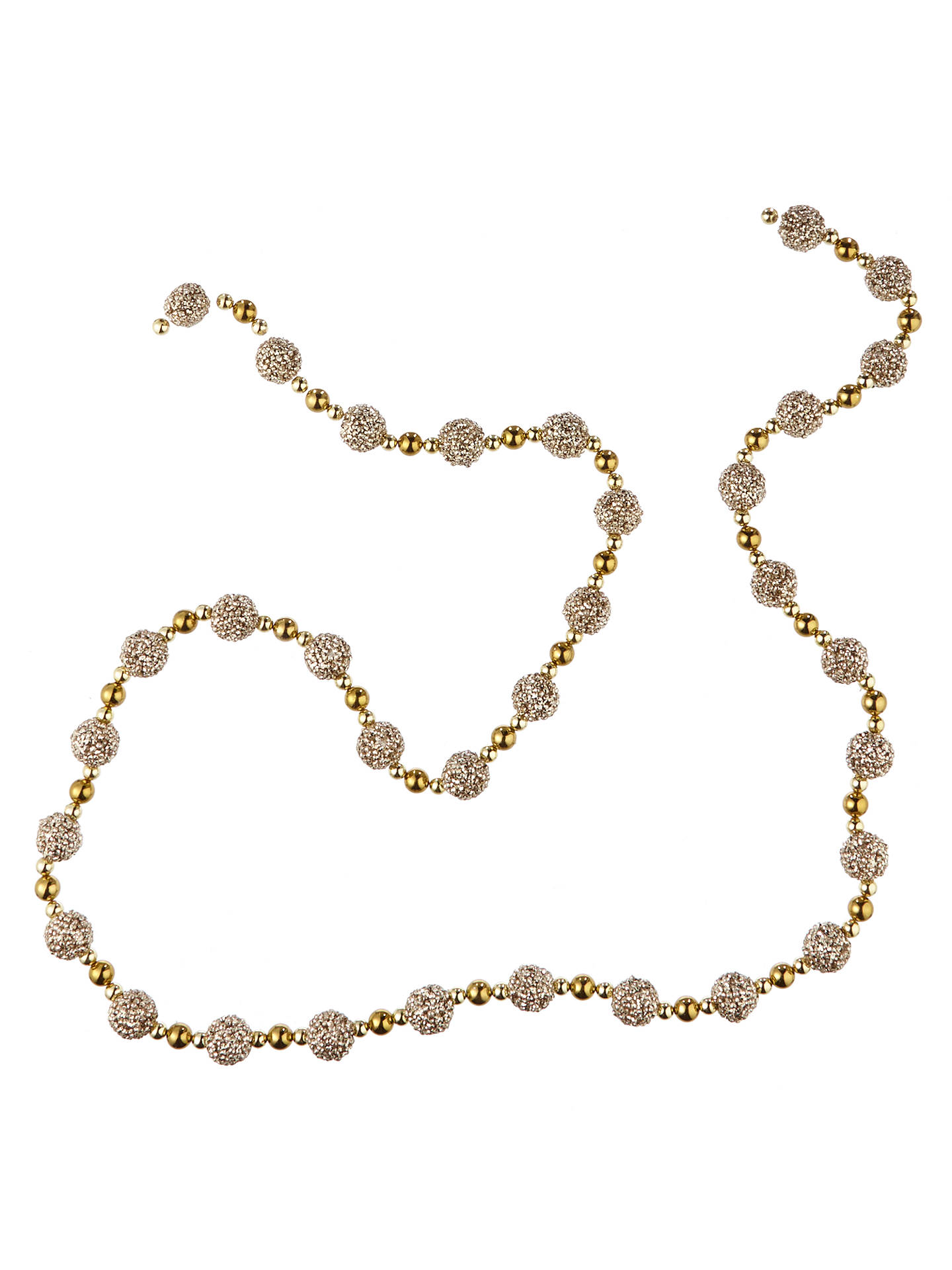 BuyJohn Lewis Tales of the Maharaja Glitter Ball Bead Garland, L180cm, Gold Online at johnlewis.com