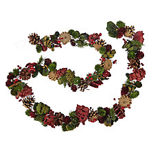 Buy John Lewis Highland Myths Pine Cone Garland, L180cm Red/Green Online at johnlewis.com