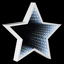 Buy John Lewis LED Star Infinity Christmas Mirror Light Online at johnlewis.com