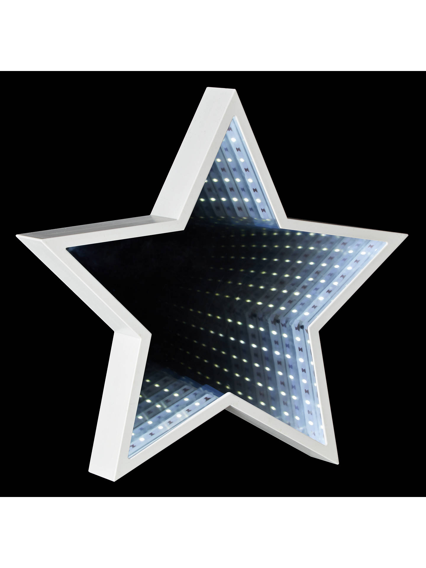 John Lewis Led Star Infinity Christmas Mirror Light At