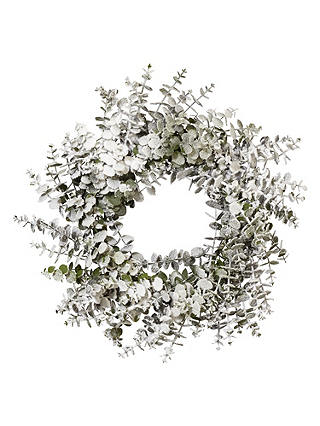 Buy John Lewis Into the Woods Snowy Eucalyptus Wreath, Dia.60cm, Green Online at johnlewis.com