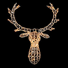 Buy John Lewis LED Acrylic Crystal Stag's Head Online at johnlewis.com