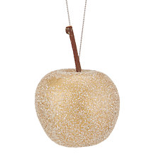 Buy John Lewis Into the Woods Glittered Apples Tree Decorations, Box of 12 Online at johnlewis.com