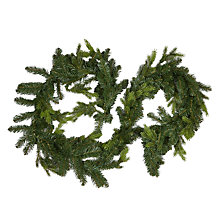 Buy John Lewis Spruce Garland With White Lights, L180cm Online at johnlewis.com