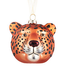 Buy John Lewis Tales of the Maharaja Leopard Head Bauble Online at johnlewis.com