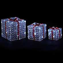 Buy John Lewis LED Acrylic Crystal Parcels, Set of 3 Online at johnlewis.com