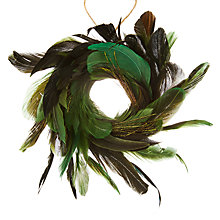 Buy John Lewis Into the Woods Feather Wreath Tree Decoration Online at johnlewis.com