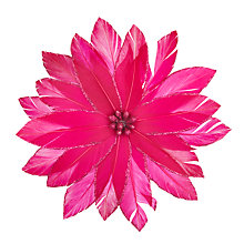Buy John Lewis Tales of the Maharaja Pink Poinsettia Clip On Tree Decoration Online at johnlewis.com