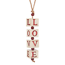 Buy John Lewis Folklore Love Glitter Cube Tree Decoration Online at johnlewis.com