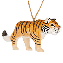Buy John Lewis Tales of the Maharaja  Wooden Tiger Tree Decoration Online at johnlewis.com