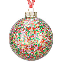 Buy John Lewis Lima Llama Confetti Bauble, Multi Online at johnlewis.com