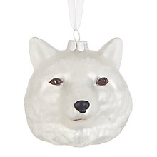 Buy John Lewis Highland Myths Wolf Head Bauble Online at johnlewis.com