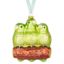 Buy John Lewis Lima Llama Parakeet Trio Bauble Online at johnlewis.com
