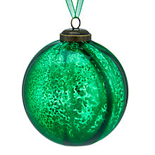 Buy John Lewis Into the Woods Mercurised Bauble, Green Online at johnlewis.com