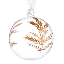 Buy John Lewis Into the Woods Clear Gold Etched Bauble Online at johnlewis.com