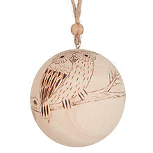 Buy John Lewis Highland Myths Wooden Owl Bauble Online at johnlewis.com