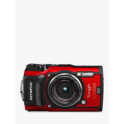 Olympus Tough TG-5 GPS Waterproof, Freezeproof, Shockproof, Dustproof Compact Digital Camera, 12MP, 4K UHD, 4x Optical Zoom, Wi-Fi, RAW Shooting, 3 LCD Screen, Red