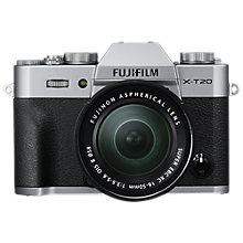 "Buy Fujifilm X-T20 Compact System Camera with XC 16-50mm OIS II Lens, 4K Ultra HD, 24.3MP, Wi-Fi, OLED EVF, 3"" Tiltable LCD Touch Screen Online at johnlewis.com"