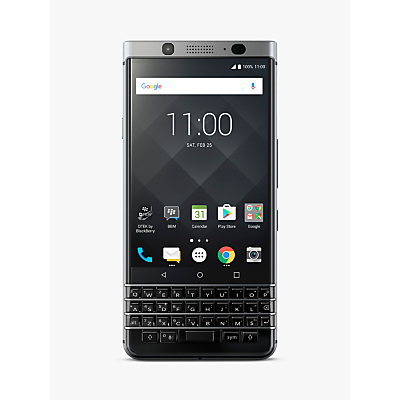 Image of BlackBerry KEYone Smartphone, Android, 4.5, SIM Free, 32GB, Silver