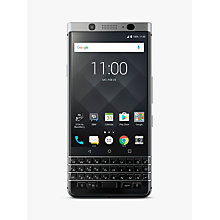 "Buy BlackBerry KEYone Smartphone, Android, 4.5"", SIM Free, 32GB, Silver Online at johnlewis.com"