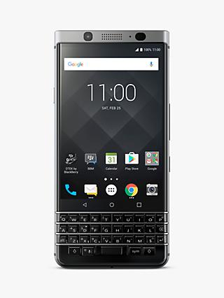 "BlackBerry KEYone Smartphone, Android, 4.5"", SIM Free, 32GB, Silver"