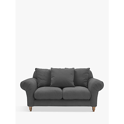 Doodler Small 2 Seater Sofa by Loaf at John Lewis in Clever Linen Meteor Grey, Light Leg