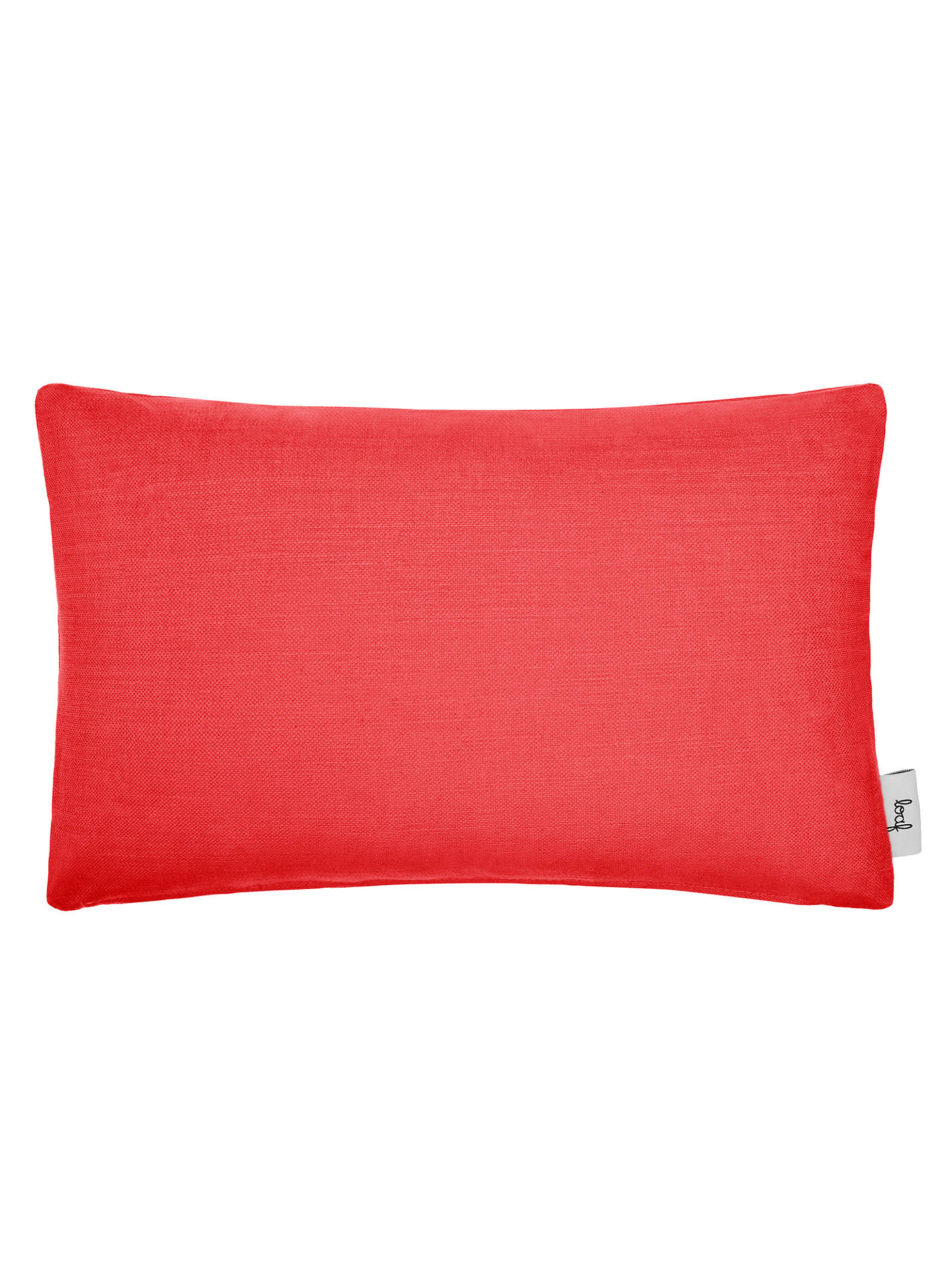 BuyRectangular Stretch Scatter Cushion by Loaf at John Lewis, Clever Linen Red Coral Online at johnlewis.com