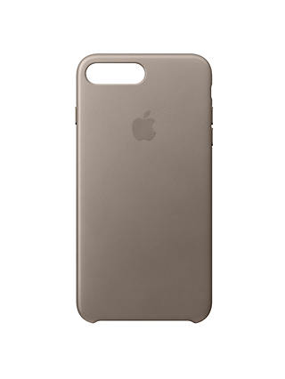 Buy Apple Leather Case for iPhone 8 Plus, Taupe Online at johnlewis.com