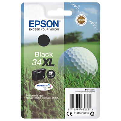 Epson Golfball T3461 XL Inkjet Printer Cartridge, Black