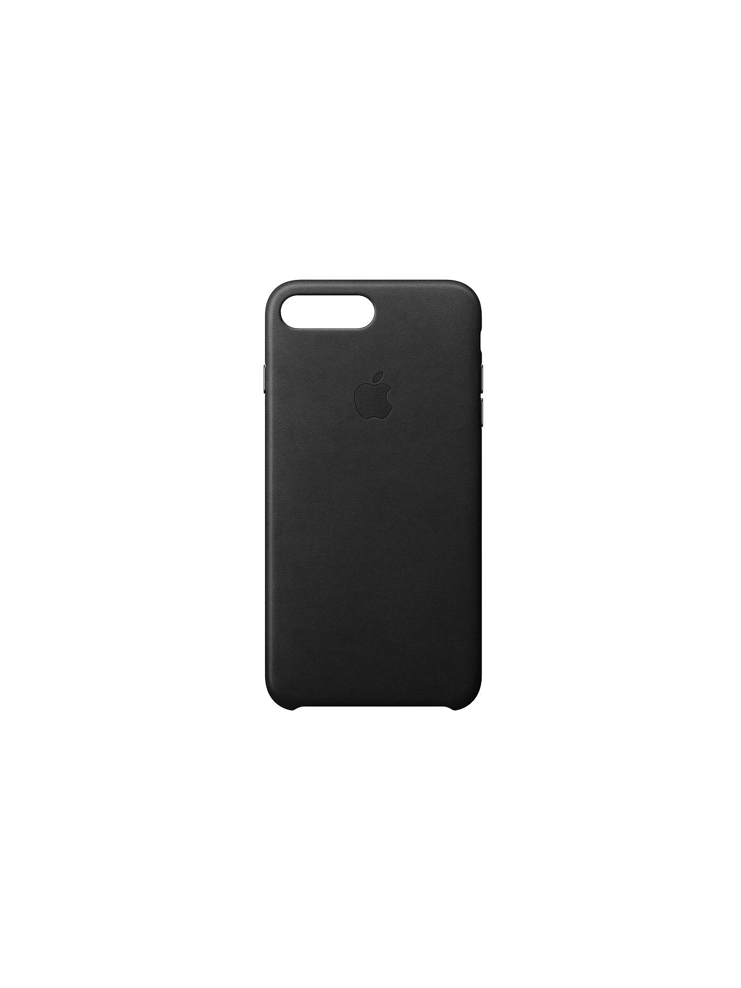 BuyApple Leather Case for iPhone 8 Plus, Black Online at johnlewis.com