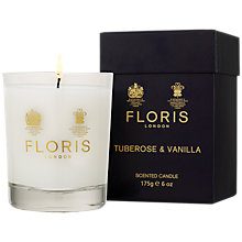 Buy Floris Tuberose & Vanilla Scented Candle, 175g Online at johnlewis.com