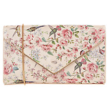 Buy Oasis Royal Worcester Collection Floral Print Envelope Clutch Bag, Multi Online at johnlewis.com