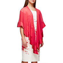 Buy Jacques Vert Border Chiffon Wrap, Coral Online at johnlewis.com