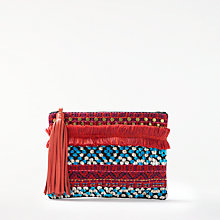 Buy AND/OR Atala Embellished Clutch Bag, Multi Online at johnlewis.com