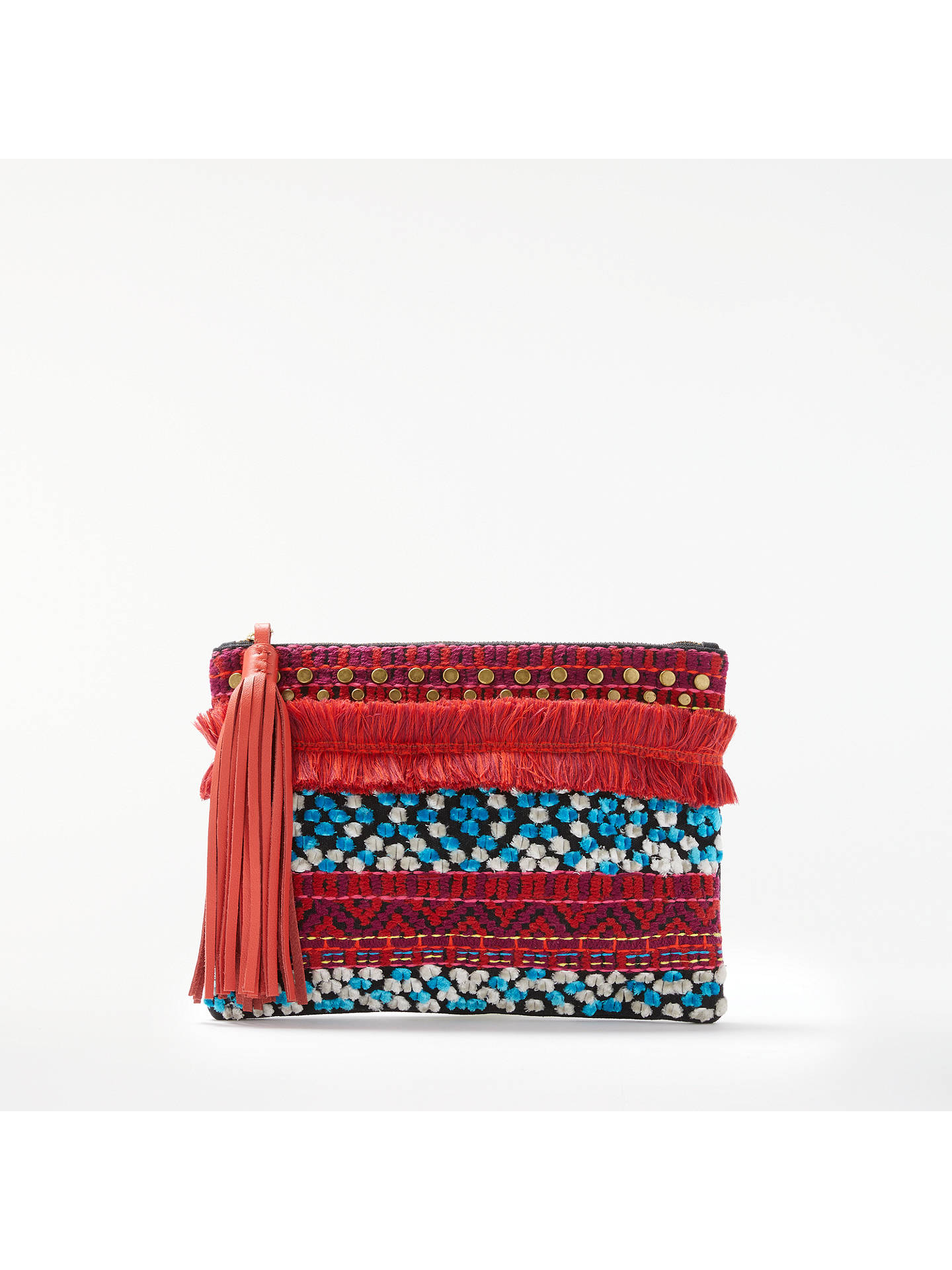 AND/OR Atala Embellished Clutch Bag, Multi at John Lewis ...