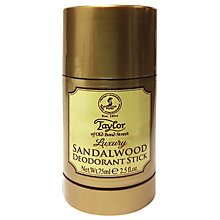 Buy Taylor of Old Bond Street Sandalwood Luxury Deodorant Stick, 75ml Online at johnlewis.com