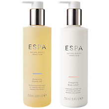 Buy ESPA Energising Shower Gel & Body Lotion Duo Online at johnlewis.com