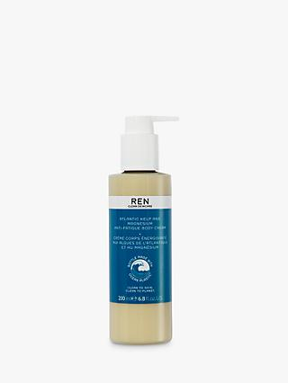 REN Atlantic Kelp And Magnesium Salt Anti-Fatigue Body Cream, 200ml