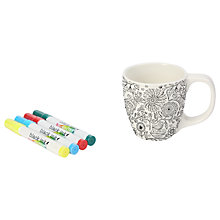 Buy Dexam Just Add Colour Nature In Colour Small Mug, White/Black, 350ml Online at johnlewis.com